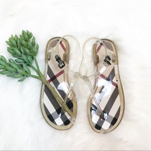 ▪️ Burberry▪️Nova Check Jelly Thong Sandals. EU 36